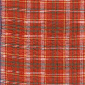 orange tartan lightweight seersucker cotton voile