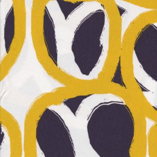 scandi print blue and yellow circle big bold lightweight jersey