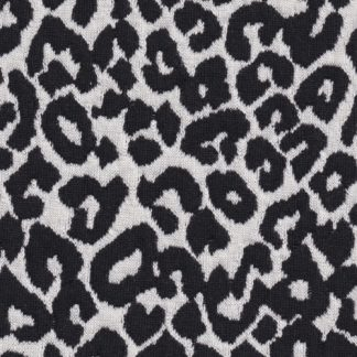 black and white leopard spot animal textured jacquard cloqué stretch suiting