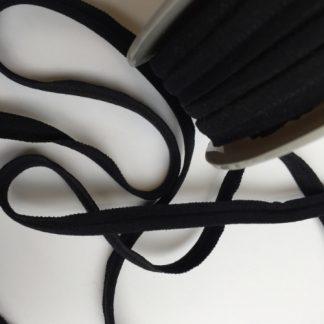 black elasticated piping