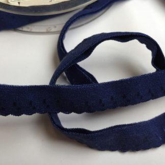 navy blue elasticated lingerie binding