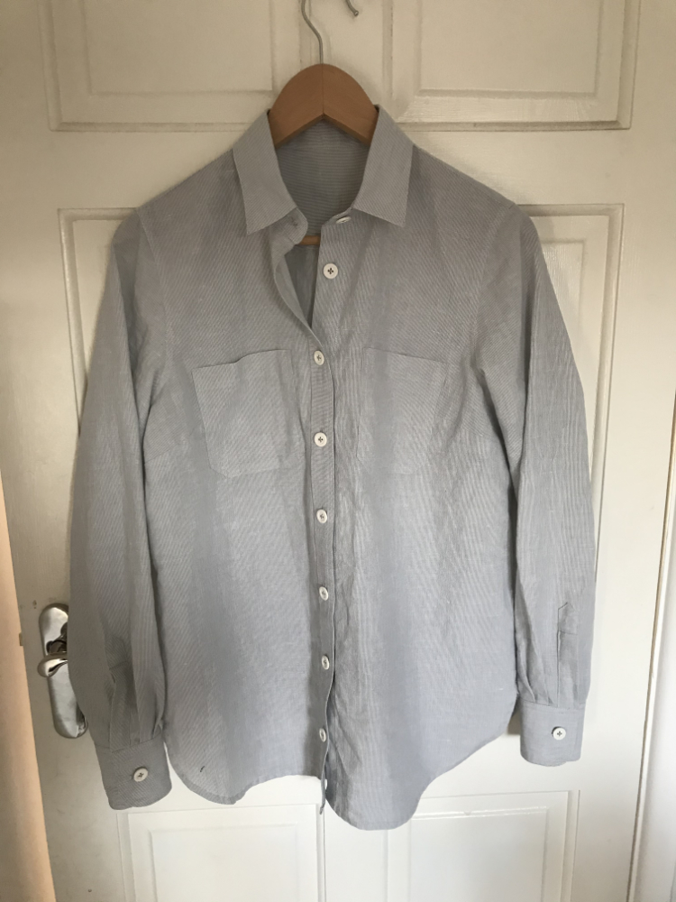 Liesl and Co micro stripe Linen and Cotton Shirt