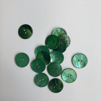 laquered green dyed shell button