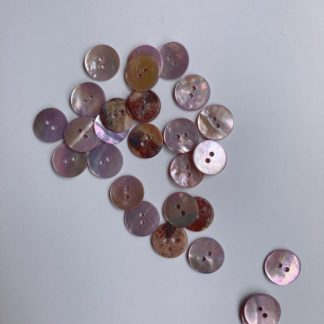 Light Pink 2 hole lacquered dyed shell button
