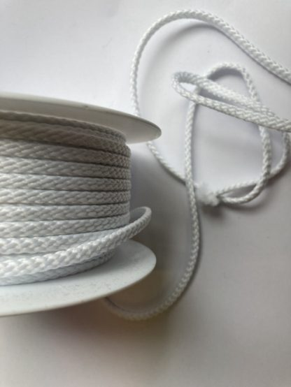 white polyester braided cord