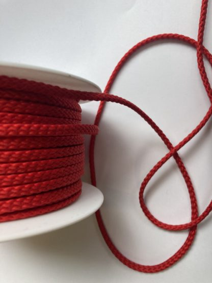Red polyester braided cord