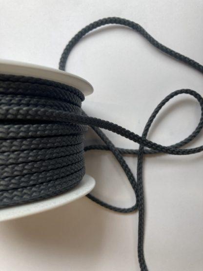 grey polyester braided cord