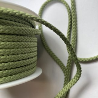 Khaki Green 100% Polyester braided cord