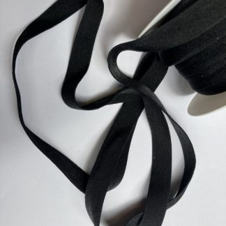 Black supersoft elasticated ribbon for bra straps and decorative straps