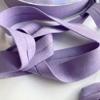 Lilac Purple Cotton double fold Jersey Binding