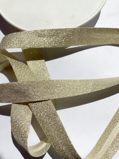 Gold lurex sparkly bias binding