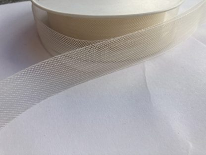 Cream 25mm horsehair braid