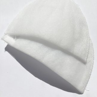 "White 3/8"" tricot covered wadding set-in shoulder pad"