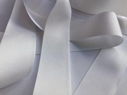 white 25mm grosgrain petersham ribbon