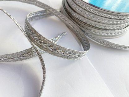 silver gimp plaited braid