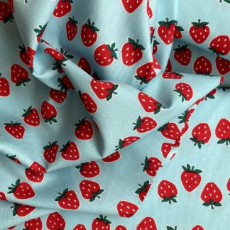 strawberry print lightweight Japanese cotton canvas