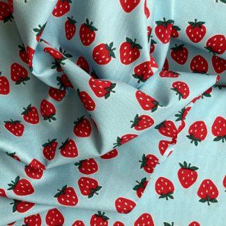 strawberry print lightweight Japanese cotton canvas