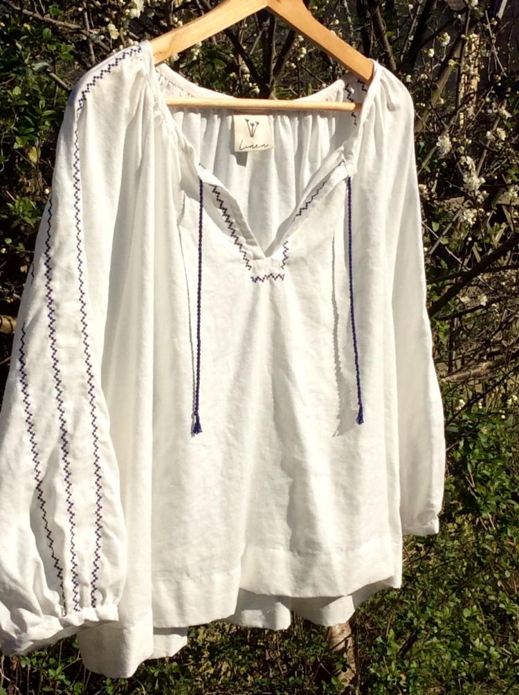 Supersoft lightweight linen Peasant shirt made by Alexa