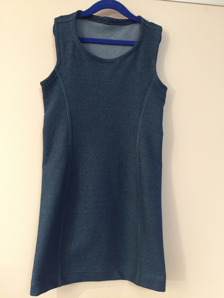 denim heavy jersey dress