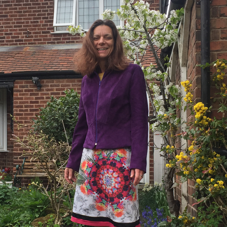 purple suede jacket
