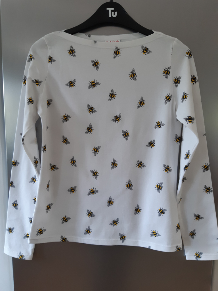 bee print cotton t-shirt