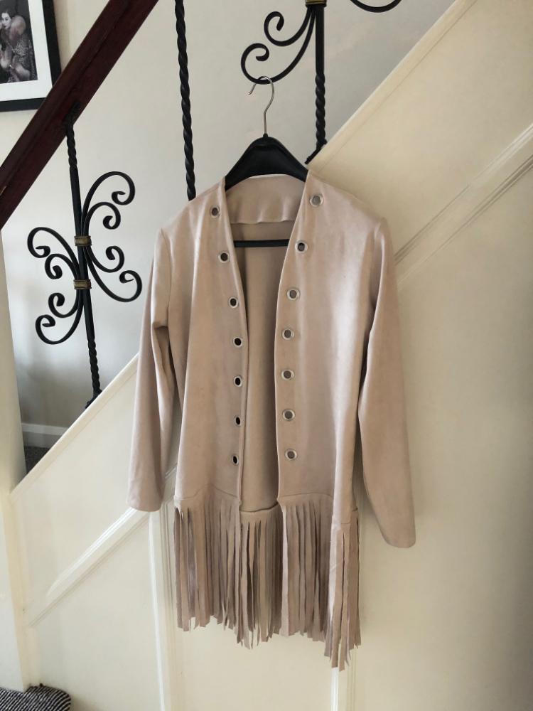 ultrasuede fringed jacket