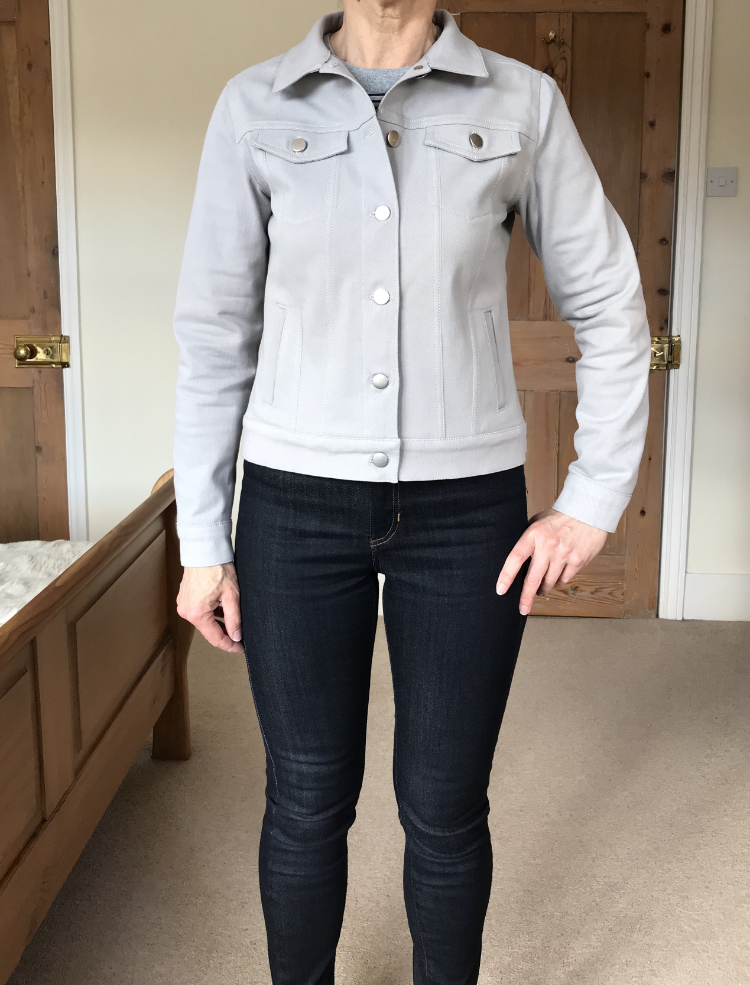 Silver Grey Classic Denim Jacket