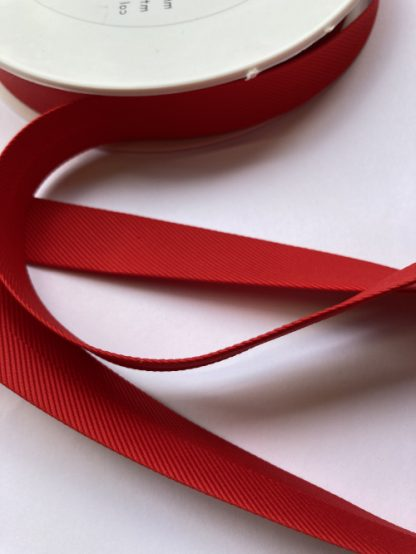 Red ottoman rib heavy 100% Viscose bias binding