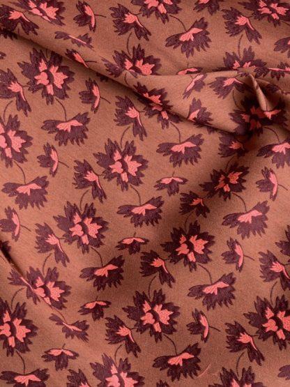 retro floral brocade