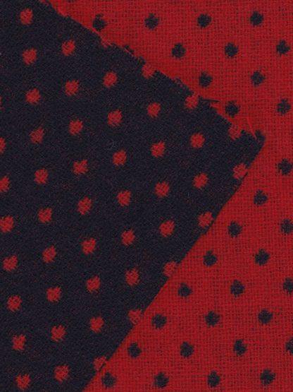 reversible polka dot 100% Wool UK Tweed