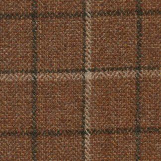 tan brown windowpane check 100% wool tweed