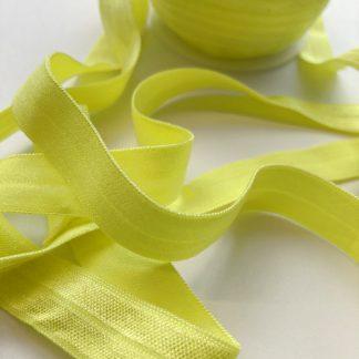 acid yellow fold-over lingerie / lightweight elastic