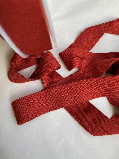 H0065-48 Terracotta Brown jersey bias binding