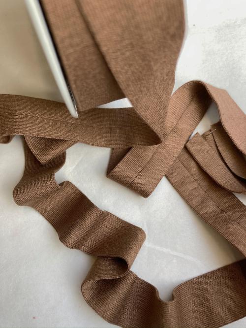 H0065-60 tan brown jersey bias binding