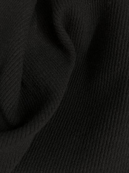 Black 95% Viscose 5% Elastane Cuffing / Ribbing (Super stretchy)