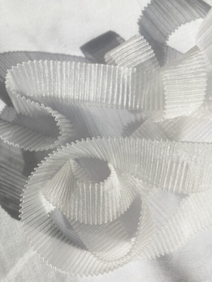 Ivory permanently pleated Organza Ribbon