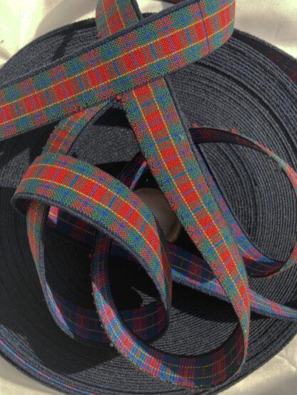 tartan woven firm elastic