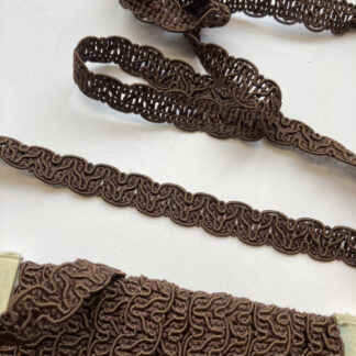 dark brown viscose gimp braid