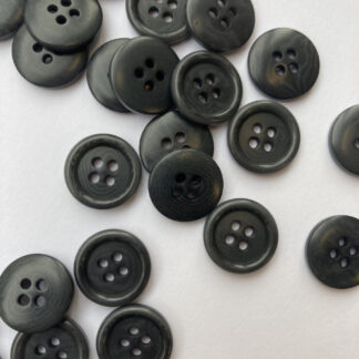 grey corozo nut button