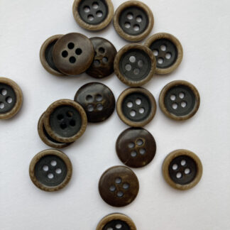 Brown corozo nut button