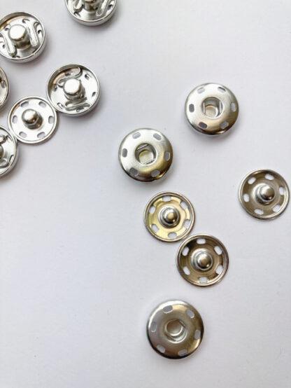 15mm silver snap fastener popper