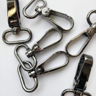 """Gunmetal colour Metal bag swivel clip - takes a 25mm / 1"""" strap"""