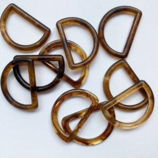 faux tortoiseshell d-ring