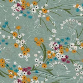 sea green floral pima cotton lawn