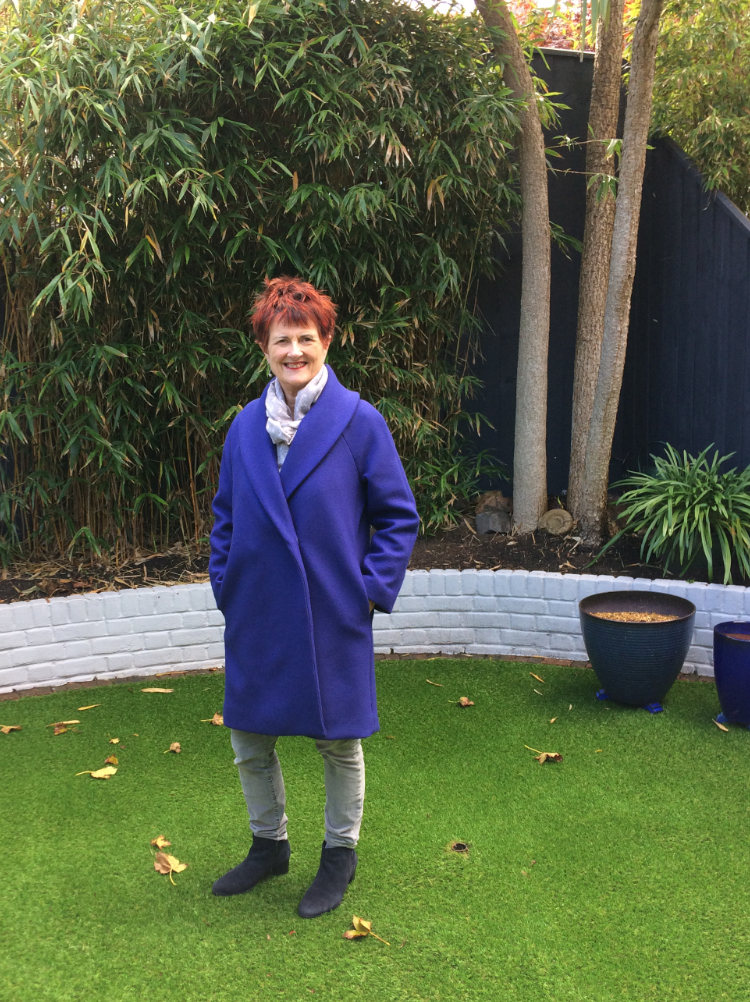 sapphire blue wool and cashmere Oslo Coat
