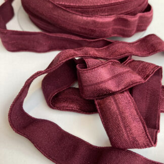 wine red fold-over lingerie elastic