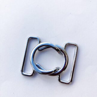 Silver Metal locking bikini clasp for 25mm strap