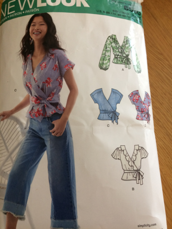 New Look 6560 wrap top with ruffle paper dressmaking patttern