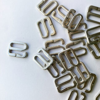 Silver Metal bikini hook for 10mm - 12mm strap