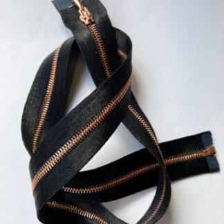 copper fine open-end decorative zip